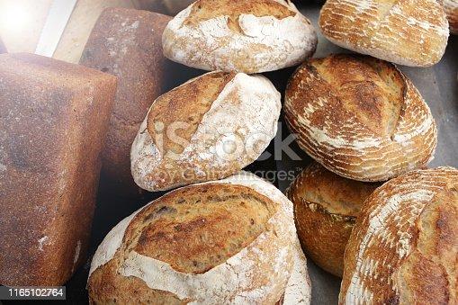 istock Fresh baked bread. 1165102764