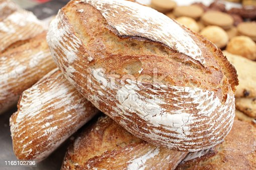 istock Fresh baked bread. 1165102796