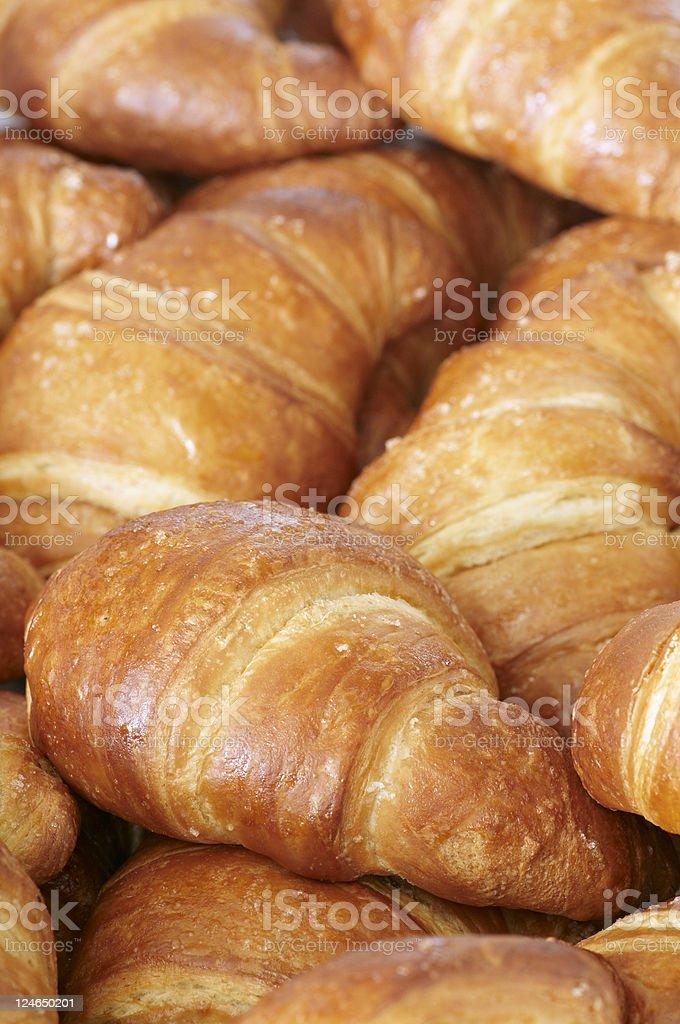 Fresh Baked Croissants royalty-free stock photo