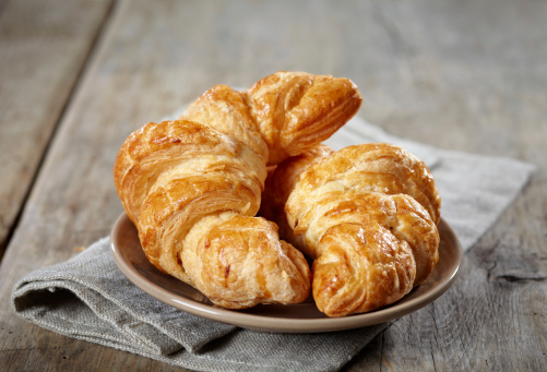 Fresh Baked Croissants Stock Photo - Download Image Now