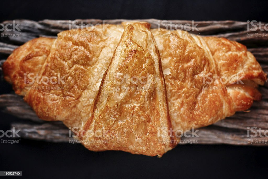 Fresh baked croissants royalty-free stock photo
