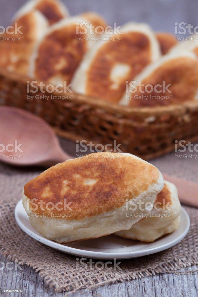 Fresh baked pasties stock photo