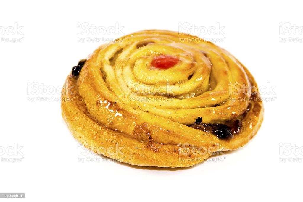 Fresh Baked Pastry on white background stock photo