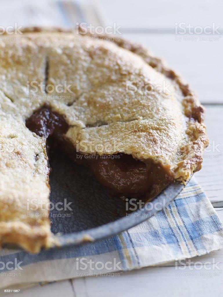 Fresh Baked Rhubarb Pie royalty free stockfoto