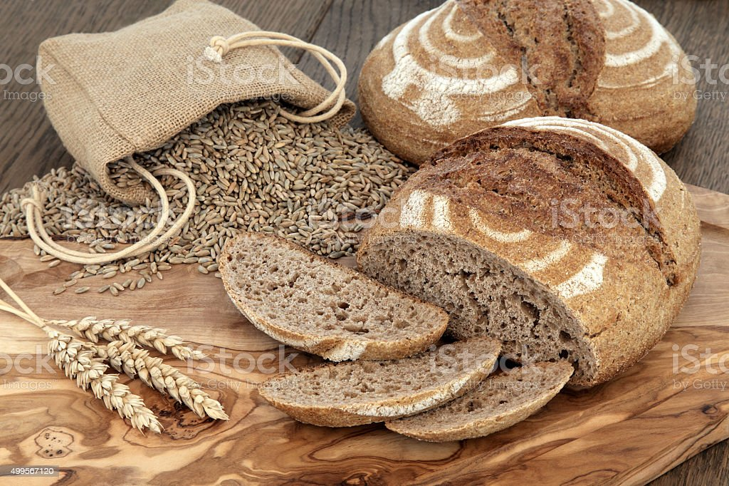 Fresh Baked Rye Bread stock photo