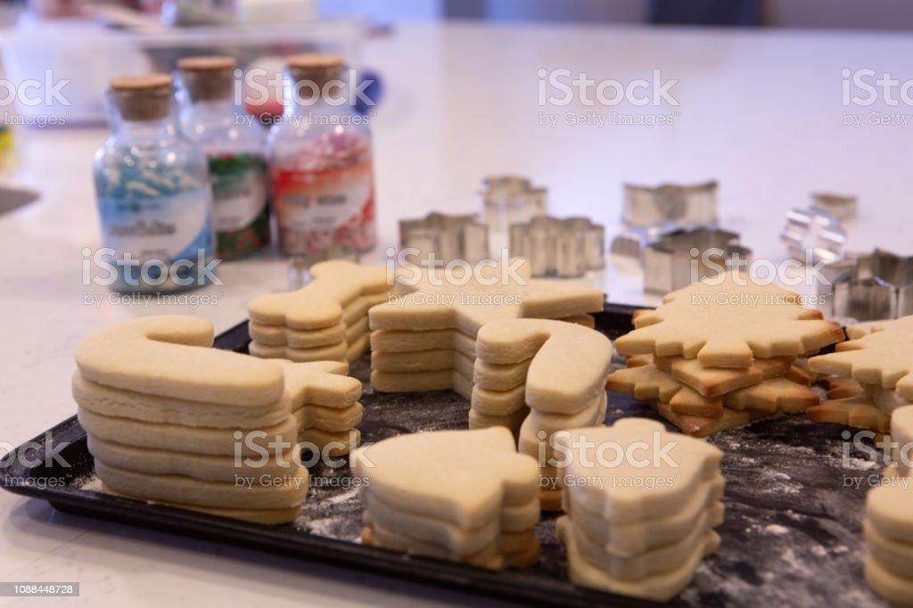 fresh baked sugar cookies stock photo