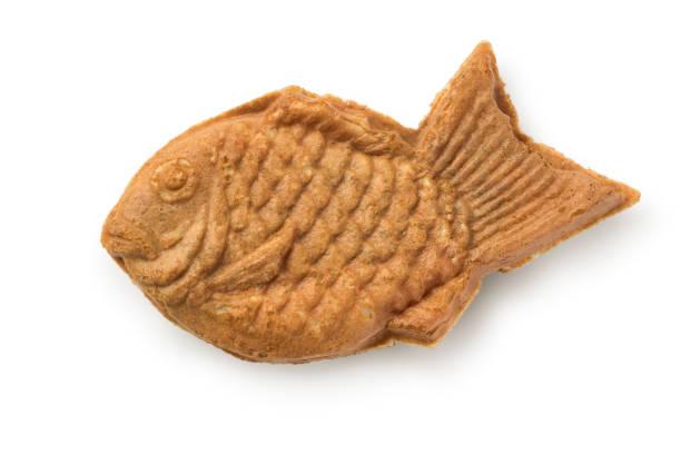 焼きたてのたい焼き、日本の魚の形のケーキ ストックフォト