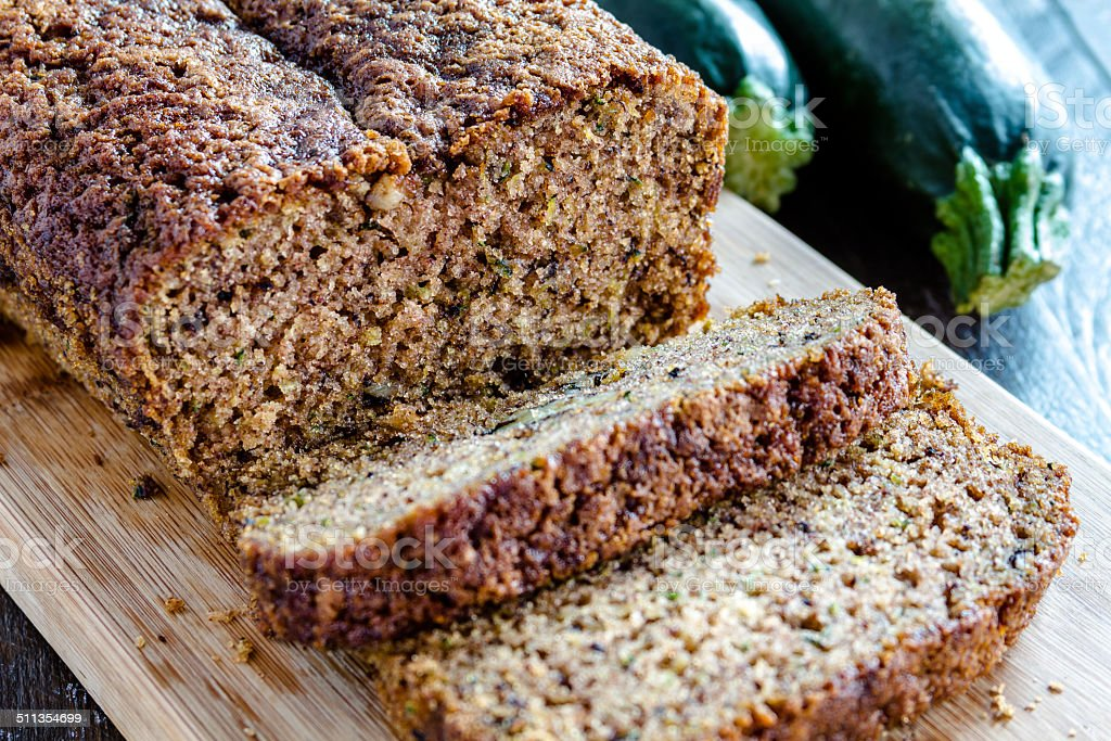 Fresh Baked Zucchini and Cinnamon Bread stock photo