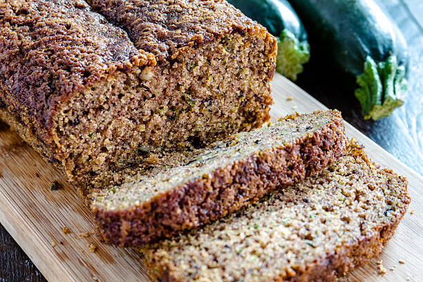 Fresh Baked Zucchini and Cinnamon Bread stock photo