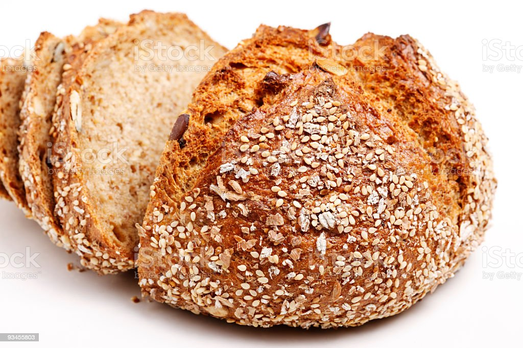 Fresh Baken and sliced 7-grain royalty-free stock photo