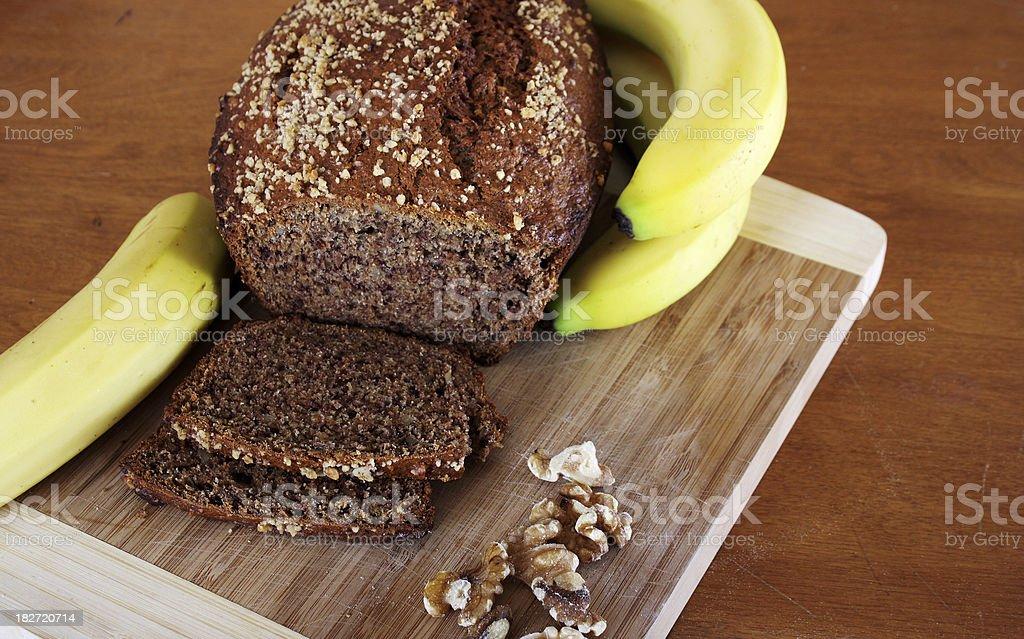 Fresh Banana Bread stock photo