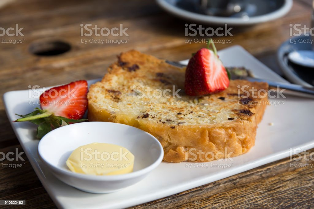 Fresh Banana Bread stock photo