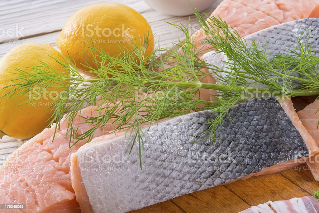 Fresh Barbeque Salmon royalty-free stock photo