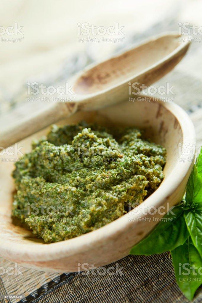 Fresh Basil Pesto royalty-free stock photo