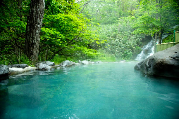 fresh bath - hot spring stock photos and pictures
