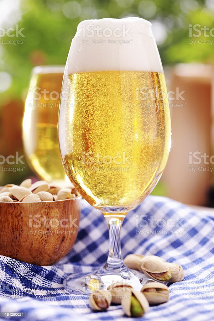 Fresh beer and snacks royalty-free stock photo