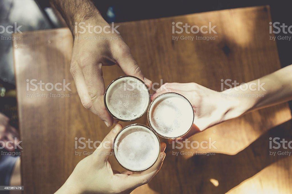Fresh beer break stock photo