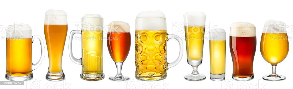 fresh beer collection stock photo
