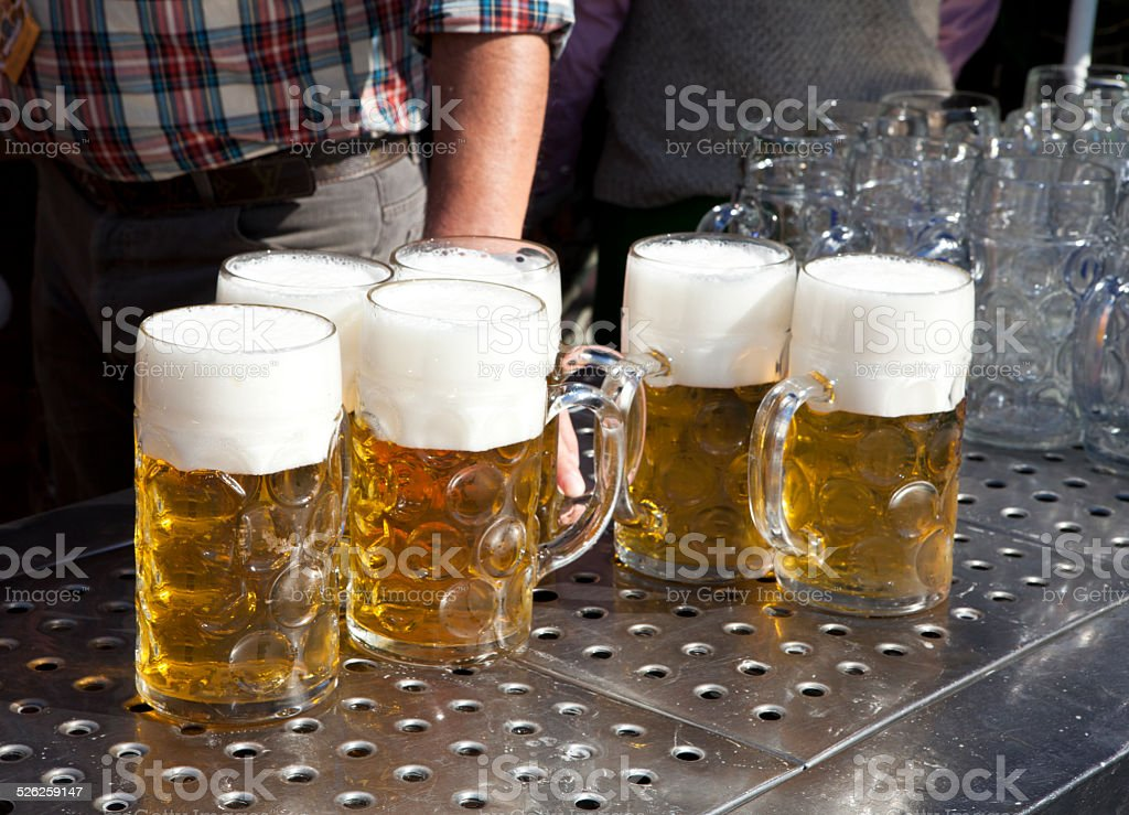fresh beer Oktoberfest stock photo