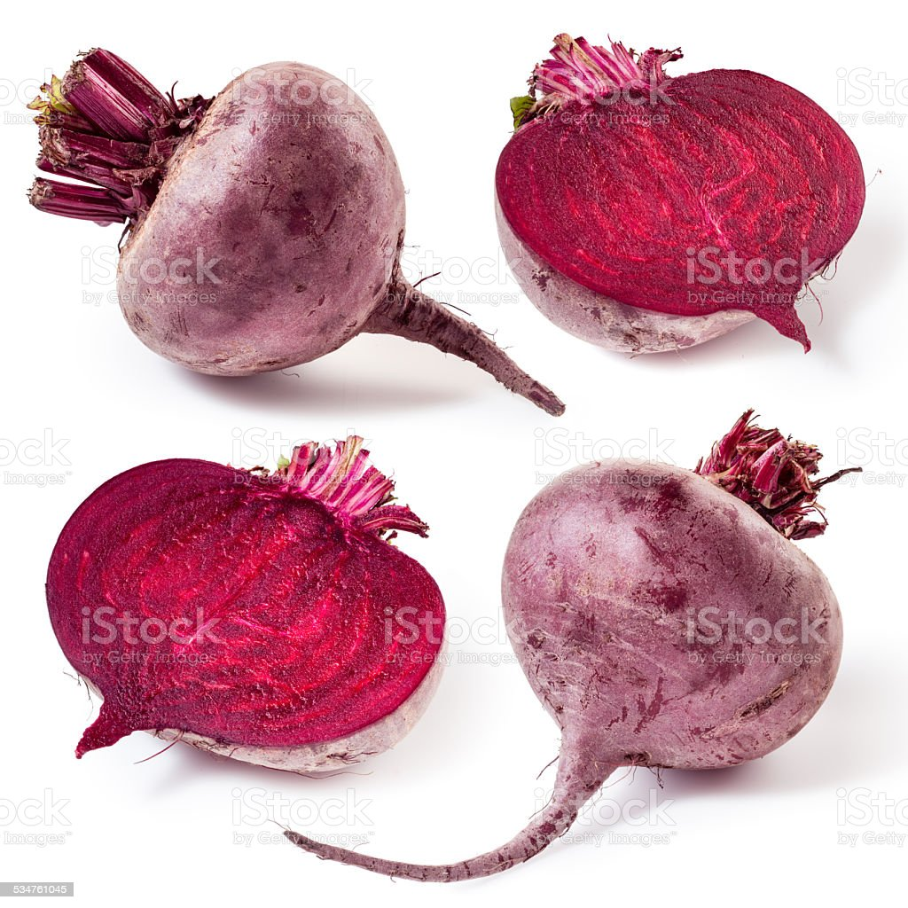 Fresh beetroot isolated on white background. Collection stock photo