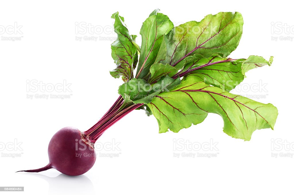 Fresh beetroot isolated on white background stock photo