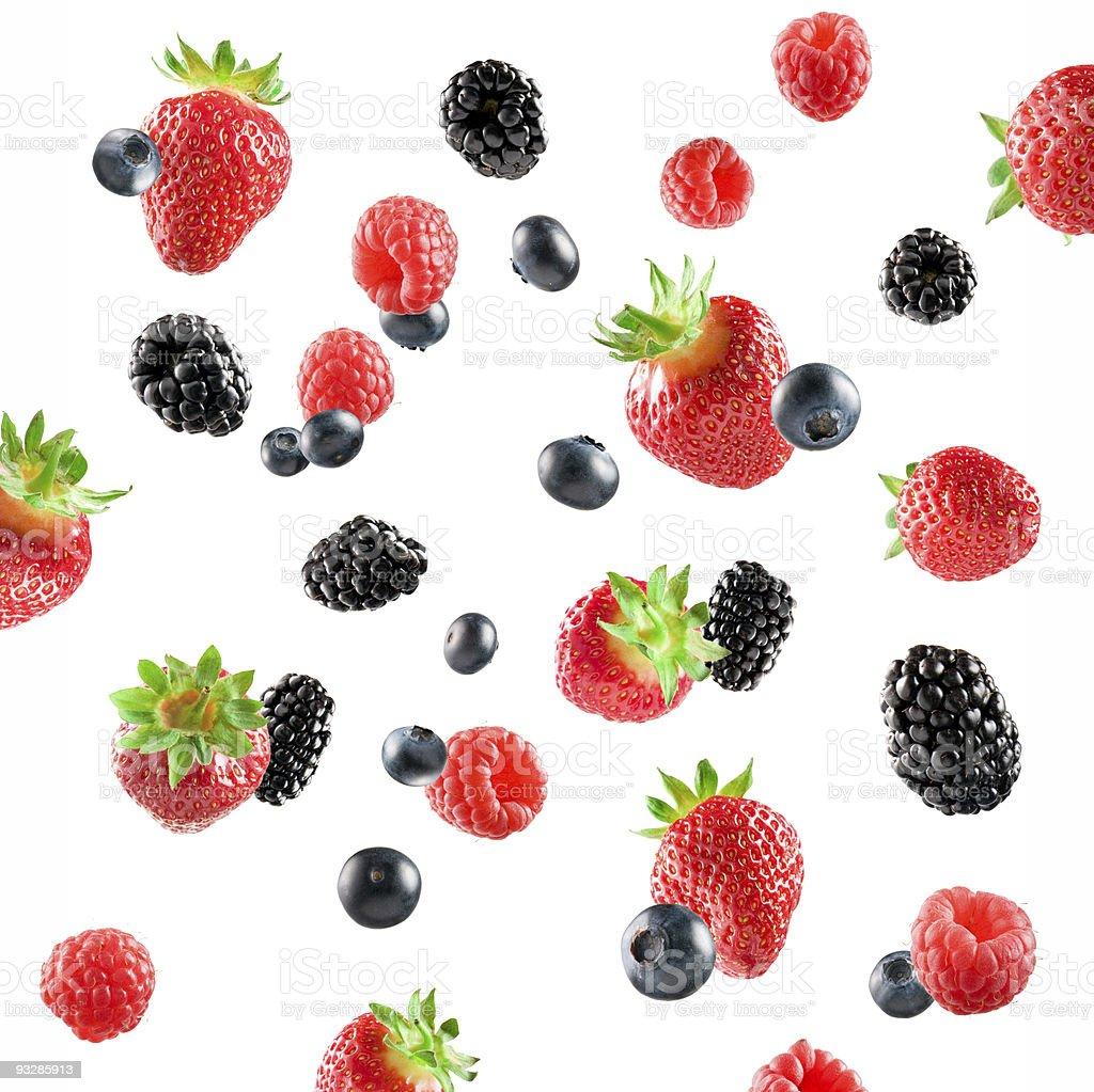 Fresh Berries explosion royalty-free stock photo