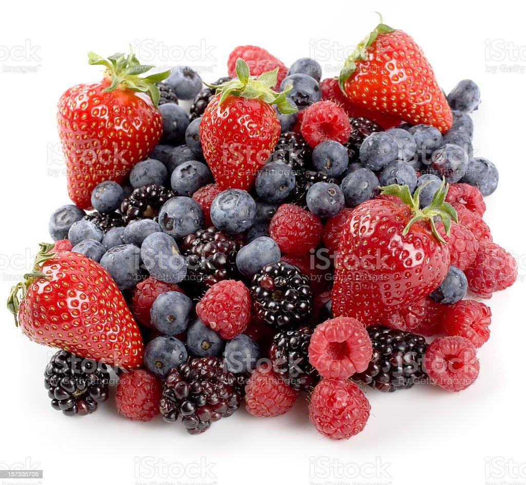 Fresh berries, isolated on white background stock photo