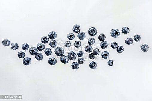 942159066 istock photo Fresh berries pattern - blueberries, strawberries, blackberries 1141678748