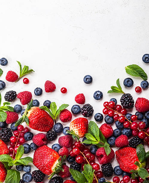 fresh berries - berry stock photos and pictures