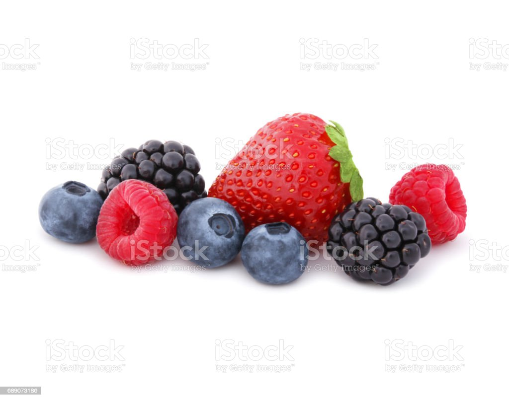 Fresh Berries (with clipping path) stock photo