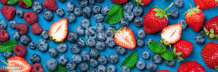 841659594 istock photo Fresh berries strawberry, blueberry, raspberry. Various fresh summer berries 1168366447