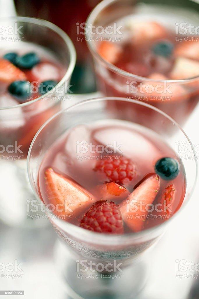 Fresh berry sangria stock photo