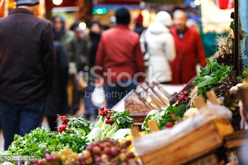 istock Fresh bio fruits and vegetables on a market 1095836212