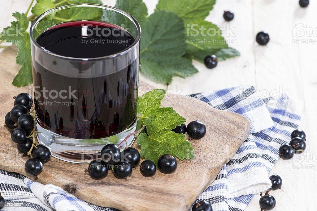 Fresh Black Currant juice stock photo