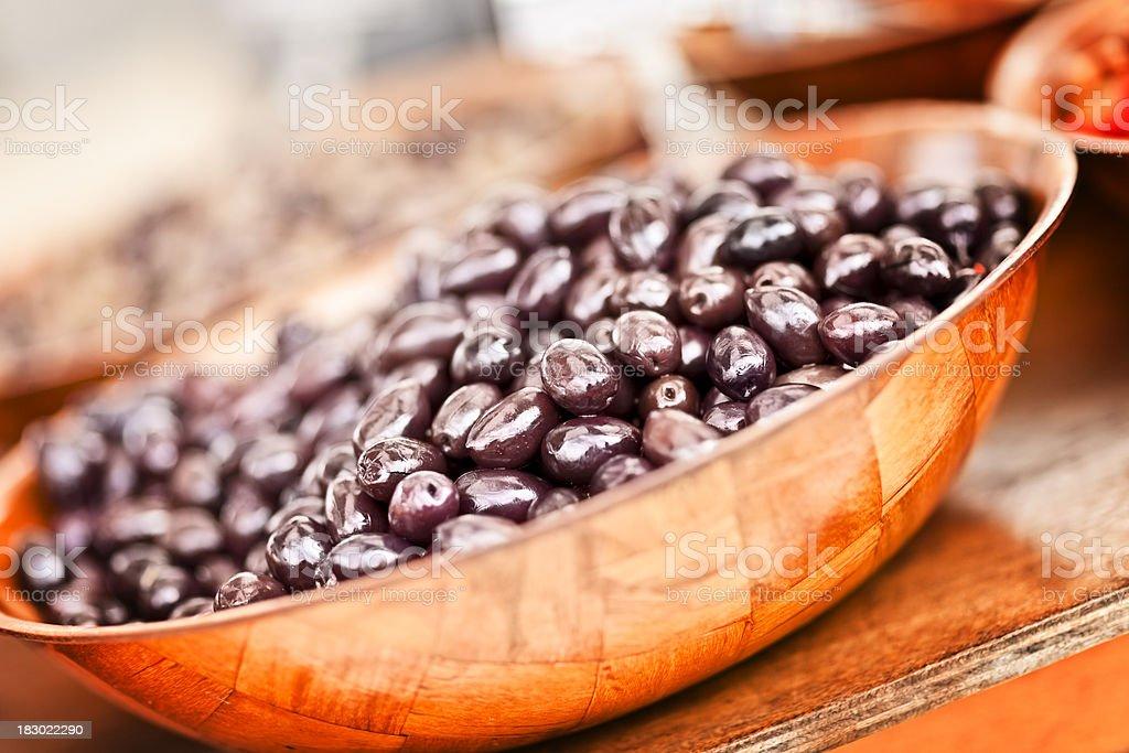 Fresh black olives royalty-free stock photo