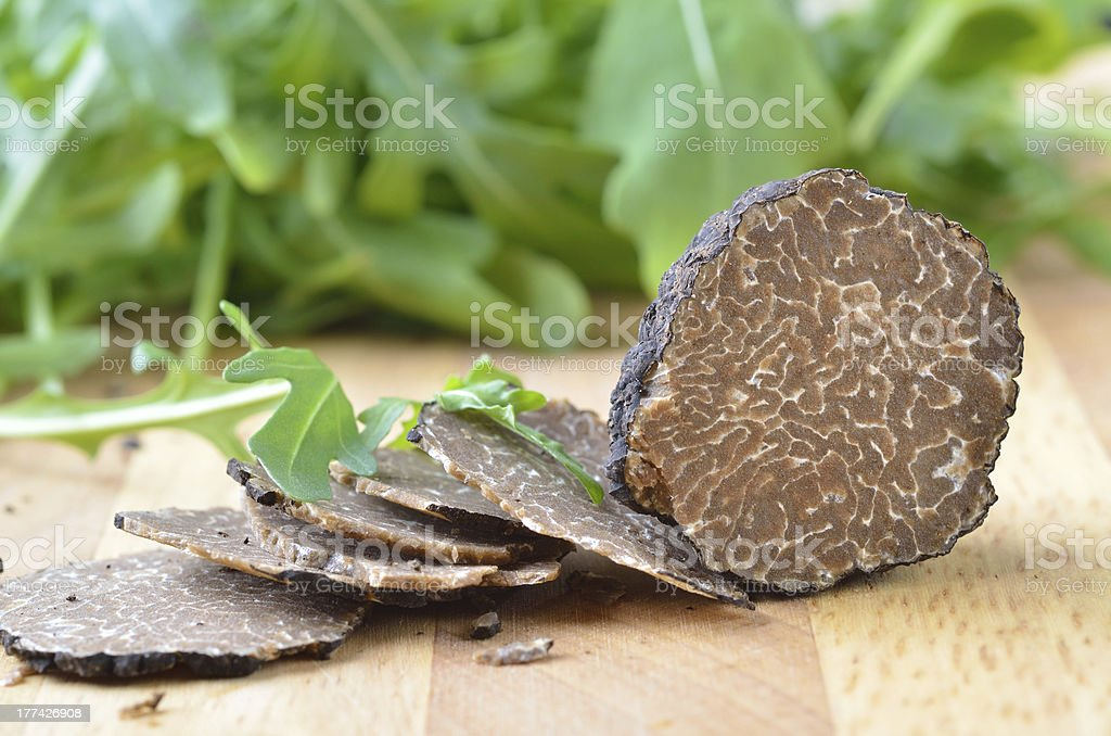 Fresh black truffles stock photo
