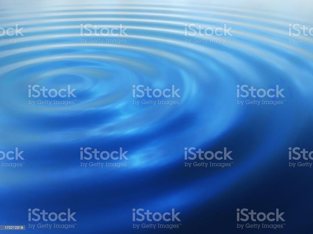 Fresh blue water making ripples royalty-free stock photo