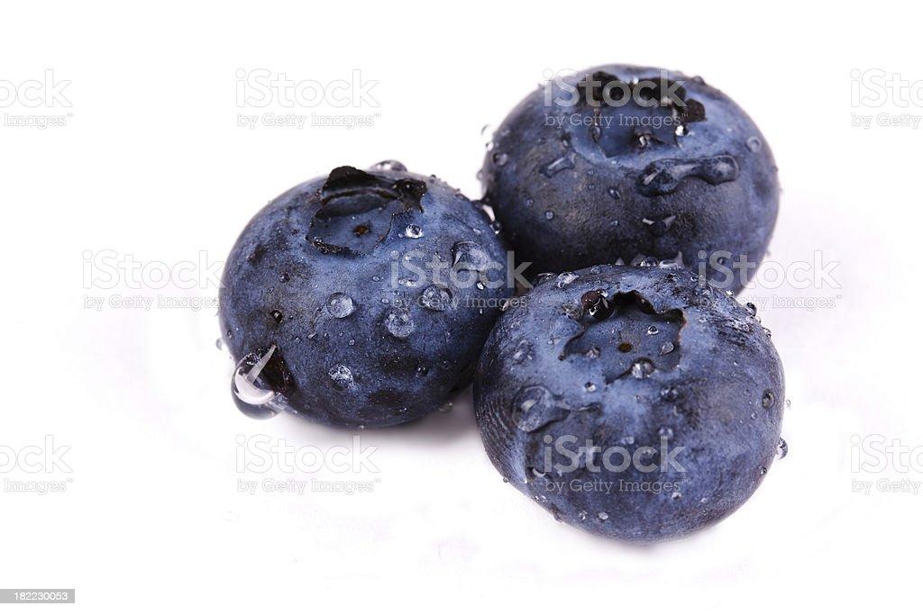 Fresh blueberries isolated on white royalty-free stock photo