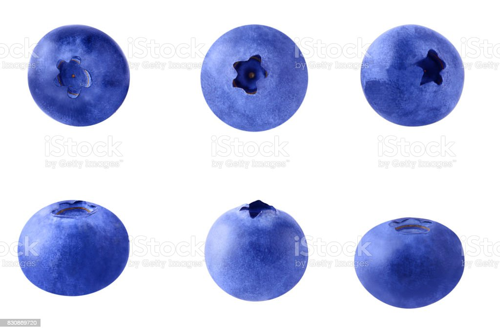 Fresh blueberries isolated stock photo