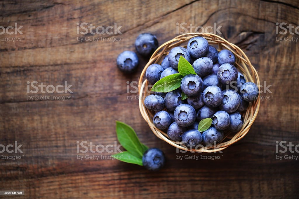 Fresh blueberries bildbanksfoto