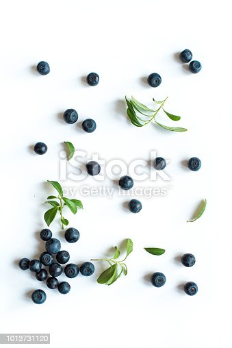 670420880istockphoto Fresh blueberries with leaves 1013731120