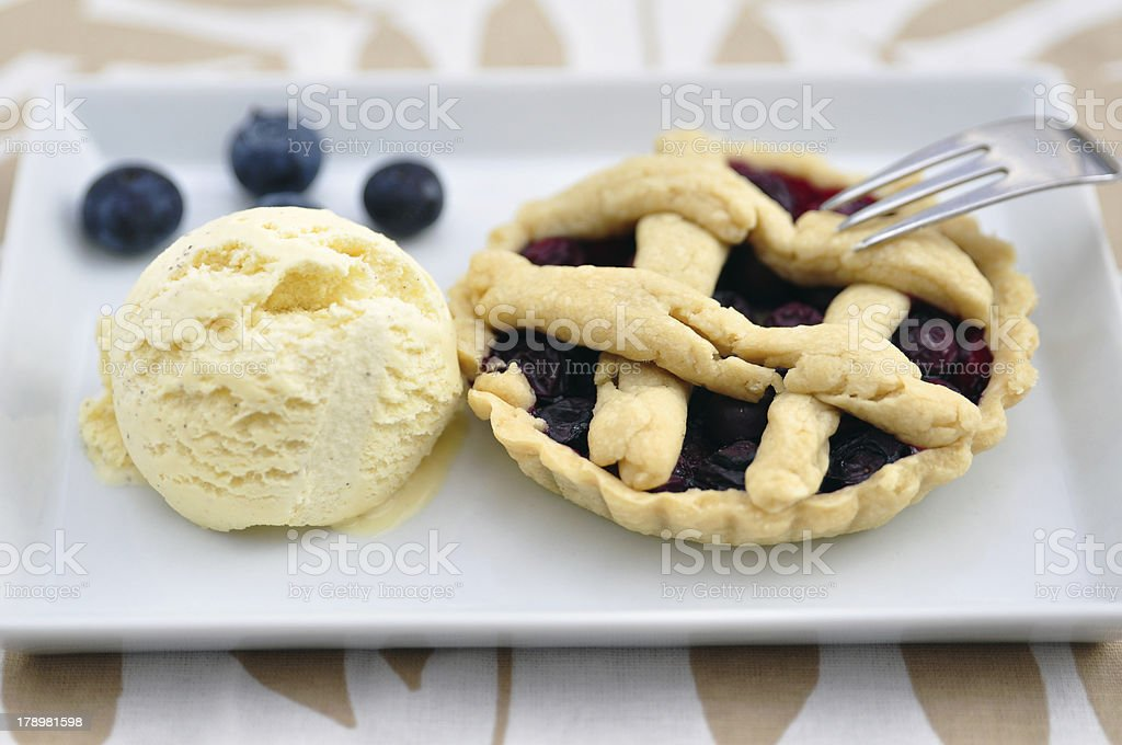 Fresh Blueberry dessert Tarts royalty-free stock photo
