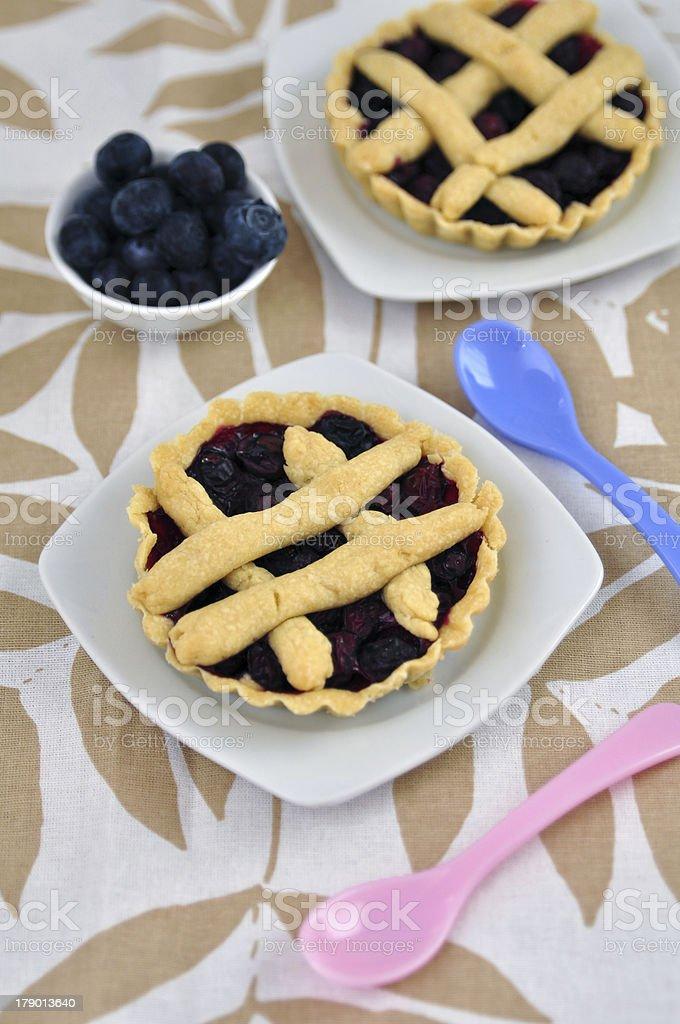 Fresh Blueberry dessert Tarts royalty-free stock photo