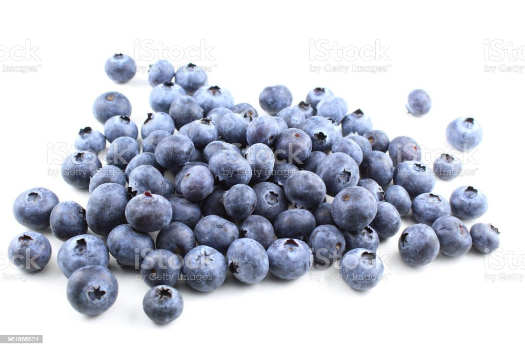 fresh blueberry fruits isolated on a white background royalty-free stock photo
