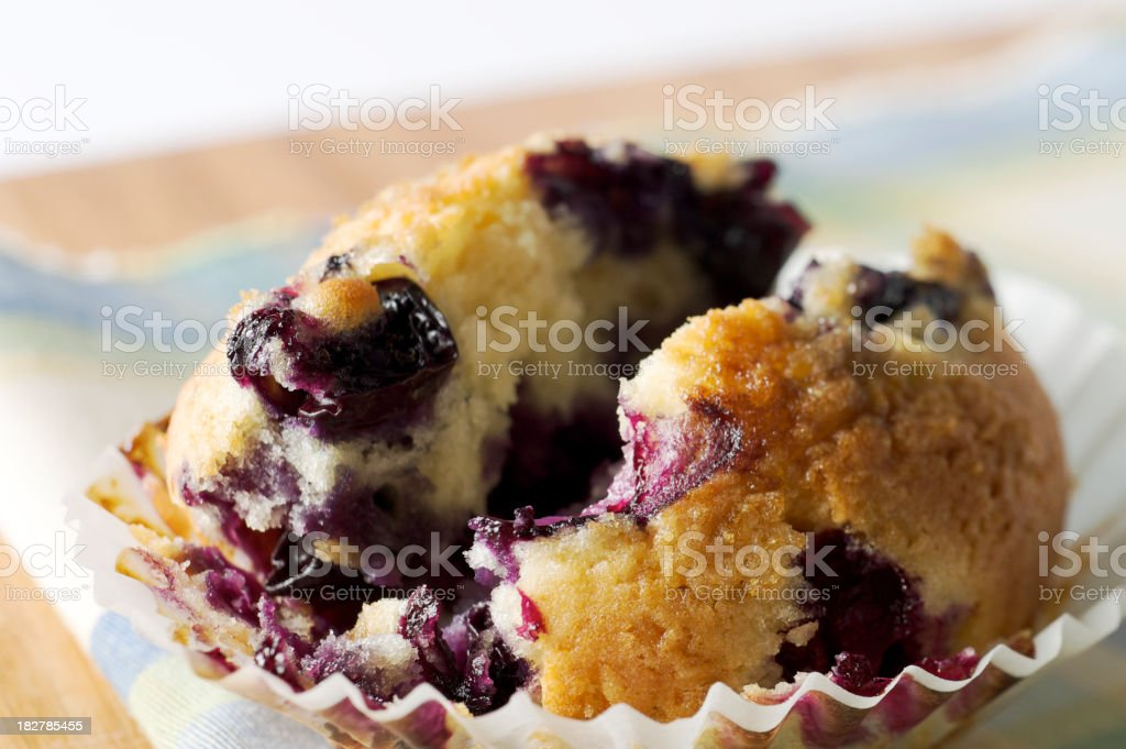 Fresh Blueberry Muffin royalty-free stock photo