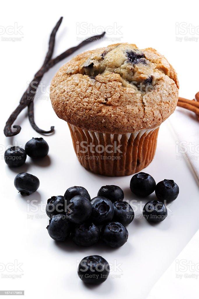 fresh blueberry muffing royalty-free stock photo