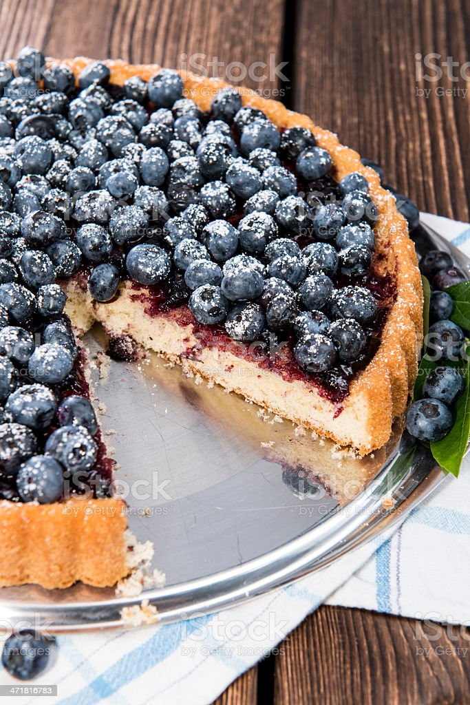 Fresh Blueberry Tart with fruits royalty-free stock photo