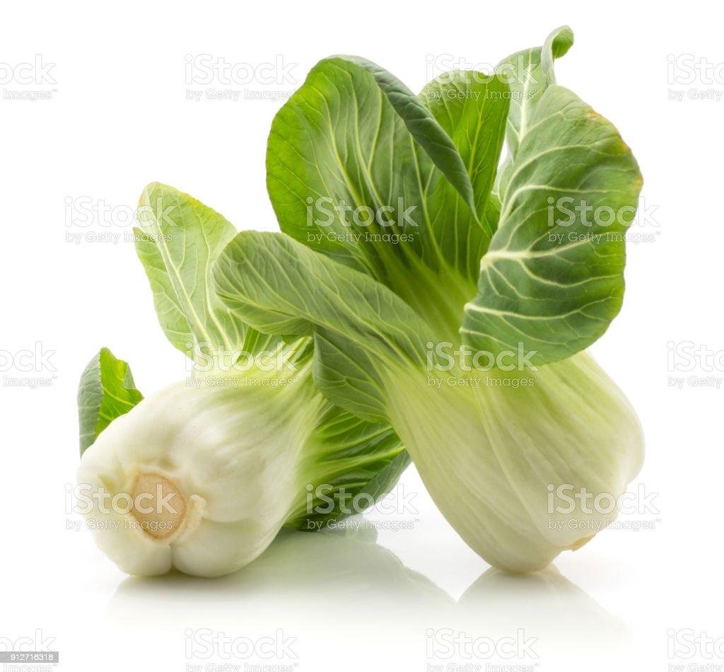 Fresh Bok choy isolated on white stock photo