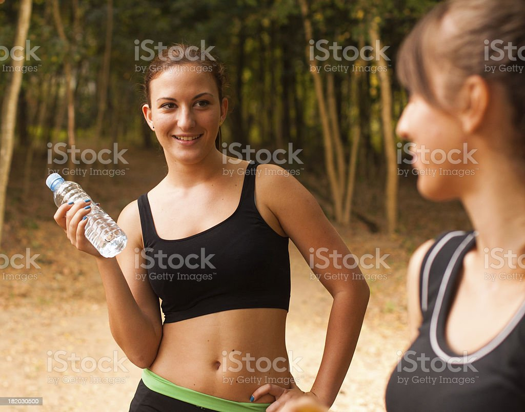 Fresh bottle of water royalty-free stock photo