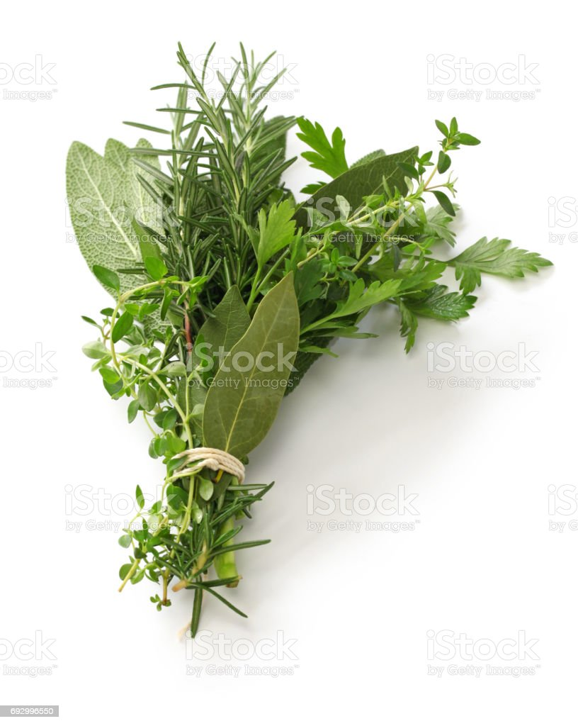 garni de bouquet frais, bouquet d'herbes photo libre de droits